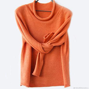 """Одежда ручной работы. Ярмарка Мастеров - ручная работа Туника вязаная """"апельсиновый фреш"""". Handmade."""