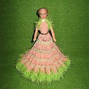 Куклы и игрушки ручной работы. Ярмарка Мастеров - ручная работа Кукла в вязаном платье. Handmade.