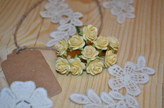 Открытки и скрапбукинг ручной работы. Ярмарка Мастеров - ручная работа. Купить Цветы для скрапбукинга - мини розы (цвета разные). Handmade.