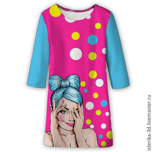Платья ручной работы. Ярмарка Мастеров - ручная работа. Купить Платье с принтом Поп-арт - сказочный подарок. Handmade. Платье