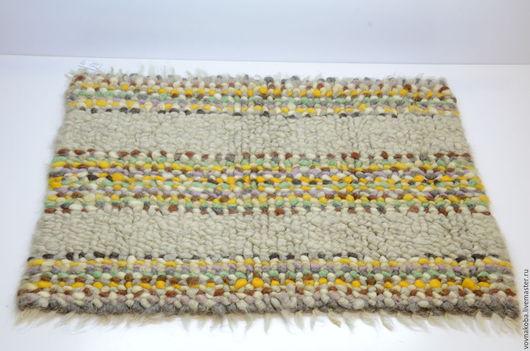 Текстиль, ковры ручной работы. Ярмарка Мастеров - ручная работа. Купить Коврик из овечьей шерсти KB024m. Handmade. коврик