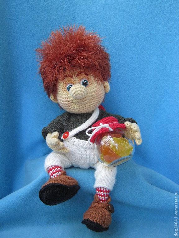 Купить Мастер-класс по вязанию игрушки Карлсон - карлсон, мультфильм, игрушка в подарок, авторская кукла