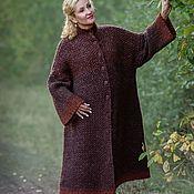Одежда handmade. Livemaster - original item Alpaka Royal Golden Autumn Coat handmade. Handmade.