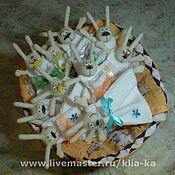 Подарки к праздникам ручной работы. Ярмарка Мастеров - ручная работа ПАСХАльные зайчики (мешочек для яйца). Handmade.