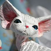 Куклы и игрушки handmade. Livemaster - original item Brietta. Cat breed Devon Rex.. Handmade.