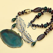 Украшения handmade. Livemaster - original item Necklace in boho style with cut agate
