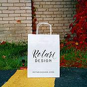 Материалы для творчества ручной работы. Ярмарка Мастеров - ручная работа Крафт-пакеты с логотипом от 100 штук.. Handmade.