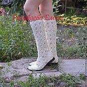 """Обувь ручной работы. Ярмарка Мастеров - ручная работа сапожки летние""""Александра"""" вязаные. Handmade."""