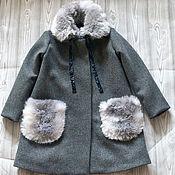 Работы для детей, ручной работы. Ярмарка Мастеров - ручная работа Пальто утепленное Стефания. Handmade.