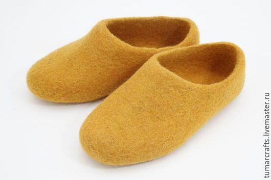 Обувь ручной работы. Ярмарка Мастеров - ручная работа. Купить Тапки из войлока (детские). Handmade. Разноцветный, тапочки из войлока