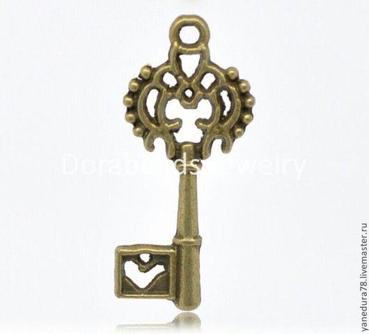 Для украшений ручной работы. Ярмарка Мастеров - ручная работа. Купить набор подвесок ключ. Handmade. Подвеска, бронза, для урашений