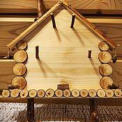 """Ключницы ручной работы. Ярмарка Мастеров - ручная работа Ключница деревянная """"Избушка на курьих ножках"""". Handmade."""