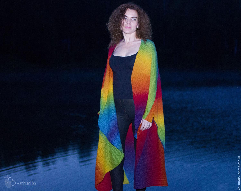 одежда для беременных и схемы горизонтального вязания