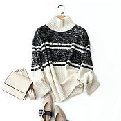 Одежда handmade. Livemaster - original item Cashmere pattern sweater. Handmade.