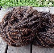 Материалы для творчества handmade. Livemaster - original item Yarn hair brown 100g.. Handmade.