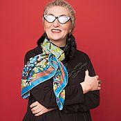 Аксессуары handmade. Livemaster - original item Black Flower mink black clutch with Gucci silk scarf. Handmade.