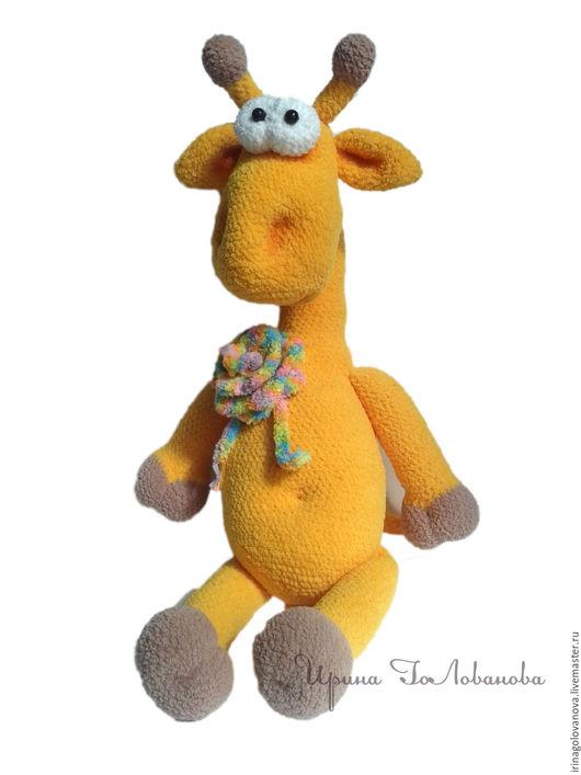 Игрушки животные, ручной работы. Ярмарка Мастеров - ручная работа. Купить Жираф Моня. Handmade. Желтый, жирафик, вязанная игрушка