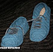 Обувь ручной работы handmade. Livemaster - original item Stylish men`s Slippers .Design according to customer`s request.. Handmade.