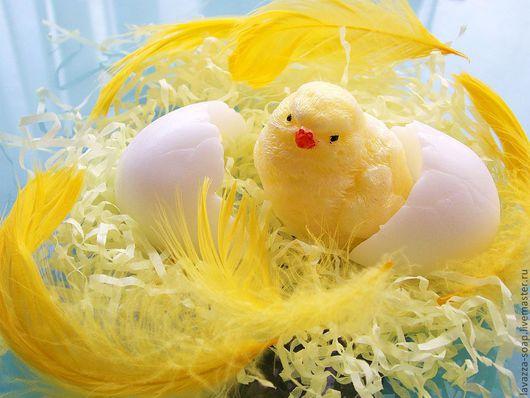Мыло ручной работы. Ярмарка Мастеров - ручная работа. Купить Мыло Цыпленок+скорлупа. Handmade. Желтый, пасхальное яйцо, цыплята, подарок