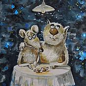Картины и панно ручной работы. Ярмарка Мастеров - ручная работа Вечерело.. (вариант)-картина на шелке. Handmade.