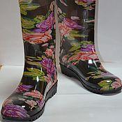 Обувь ручной работы. Ярмарка Мастеров - ручная работа Резиновые сапоги для женщин. Handmade.