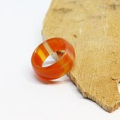 Украшения handmade. Livemaster - original item Ring of red-orange agate size 15.5. Handmade.
