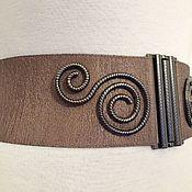 Аксессуары handmade. Livemaster - original item the belt-gum, Cocoa, height 70mm, color custom-made fur coat. Handmade.