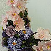 Цветы и флористика ручной работы. Ярмарка Мастеров - ручная работа Зеркало с цветами. Handmade.