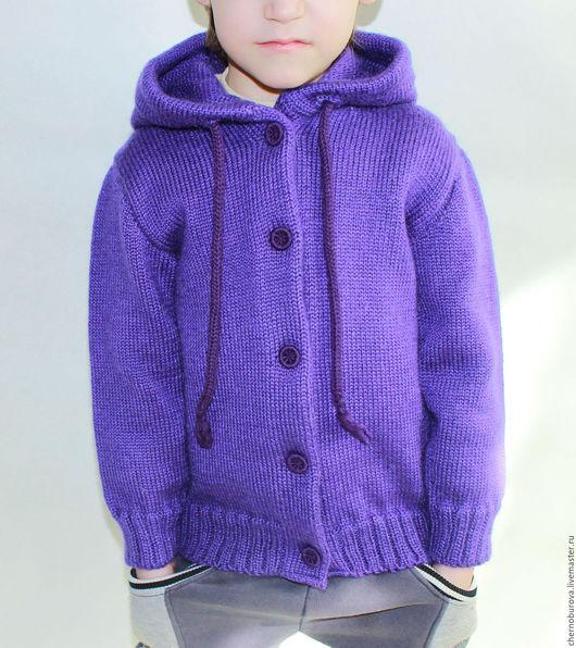 Одежда унисекс ручной работы. Ярмарка Мастеров - ручная работа. Купить Детская кофта с капюшоном. Handmade. Вязаная детская кофта
