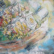 Картины и панно ручной работы. Ярмарка Мастеров - ручная работа Сквозь осенние тучи. Handmade.
