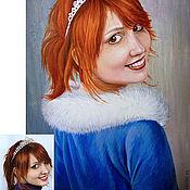 Картины и панно ручной работы. Ярмарка Мастеров - ручная работа Портрет акрил/бумага живопись. Handmade.
