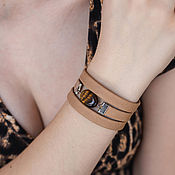Украшения handmade. Livemaster - original item Tiger eye bracelet basic wide for women. Handmade.