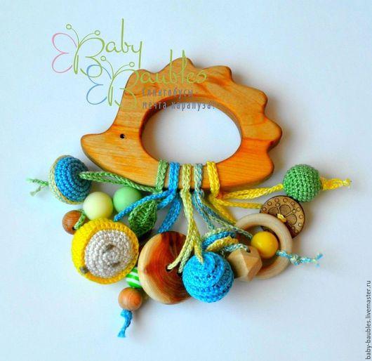 """Развивающие игрушки ручной работы. Ярмарка Мастеров - ручная работа. Купить """"Ёжик"""" грызунок. Handmade. Комбинированный, грызунки, развивающие игрушки"""