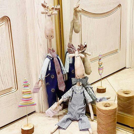 Куклы Тильды ручной работы. Ярмарка Мастеров - ручная работа. Купить Тильда-лось. Moose. Handmade. Комбинированный, стильный подарок