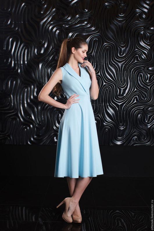 Платья ручной работы. Ярмарка Мастеров - ручная работа. Купить Потрясающее голубое платье. Handmade. Голубой, голубое платье