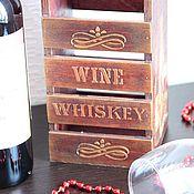 Для дома и интерьера ручной работы. Ярмарка Мастеров - ручная работа Короб для вина. Handmade.