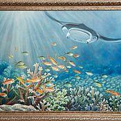 """Картины ручной работы. Ярмарка Мастеров - ручная работа Картина маслом """"Окно в океан"""". Handmade."""