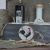 Для дома и интерьера ручной работы. Ярмарка Мастеров - ручная работа Деревянный ящик короб с медальоном для кухни Сельский. Handmade.