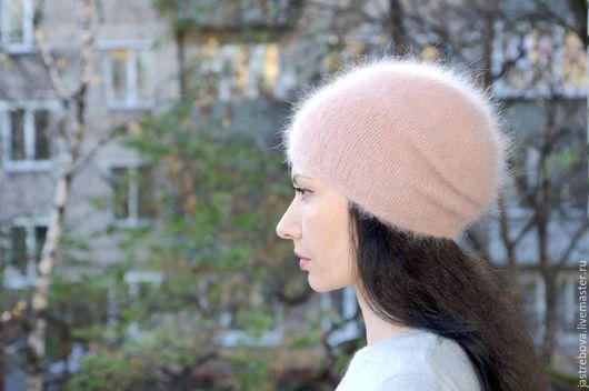 шапка вязаная женская шапка женская вязаная  вязаная шапка из ангоры вязаная шапка бини вязаная шапка носок