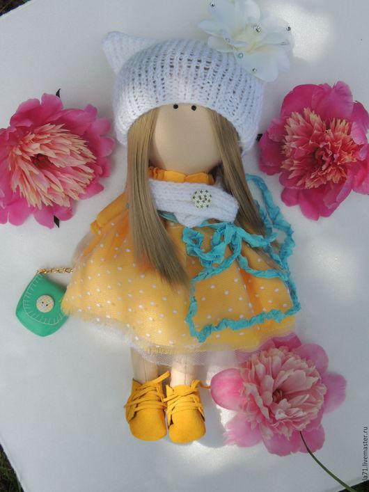 Куклы тыквоголовки ручной работы. Ярмарка Мастеров - ручная работа. Купить Дизайнерская кукла/интерьерная кукла/ кукла для души. Handmade. Желтый