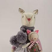 Куклы и игрушки ручной работы. Ярмарка Мастеров - ручная работа Jane. Текстильная кошка.. Handmade.