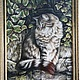 Животные ручной работы. Ярмарка Мастеров - ручная работа. Купить Вышитая картина Кот (ручная вышивка крестиком) размер 78см х 57см. Handmade.
