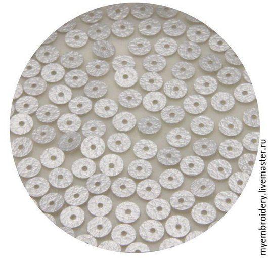 Вышивка ручной работы. Ярмарка Мастеров - ручная работа. Купить Пайетки 5 мм плоские. Handmade. Серебряный, пайетки пришивные