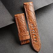 Украшения handmade. Livemaster - original item Crocodile Leather Watchband (03). Handmade.