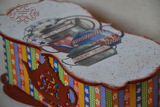 """Шкатулки ручной работы. Ярмарка Мастеров - ручная работа. Купить Чайная шкатулка """"Чаепитие"""". Handmade. Чайная коробка, чаепитие"""