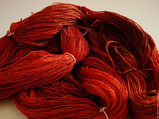 """Вязание ручной работы. Ярмарка Мастеров - ручная работа. Купить Пряжа """"Пламя"""". Handmade. Ярко-красный, пряжа ручной работы"""