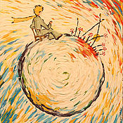 Картины и панно ручной работы. Ярмарка Мастеров - ручная работа 44-й закат. Handmade.