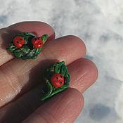 Работы для детей, handmade. Livemaster - original item Brooches ladybugs Leaf Spring. Handmade.