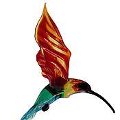 Для дома и интерьера ручной работы. Ярмарка Мастеров - ручная работа Интерьерное подвесное украшение из цветного стекла птица Колибри Flor. Handmade.