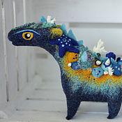 Куклы и игрушки ручной работы. Ярмарка Мастеров - ручная работа Синий морской дракон. Handmade.